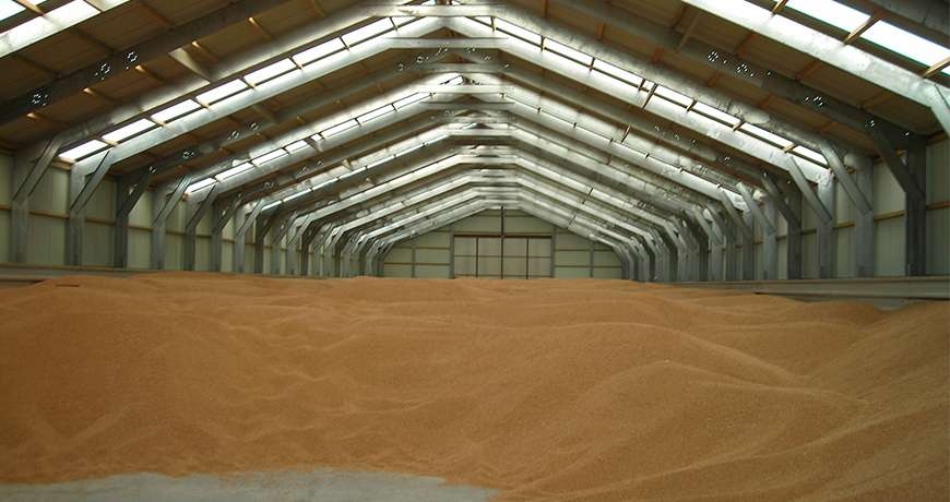 Bulk storage agriculture steel structures for Chambre agricole