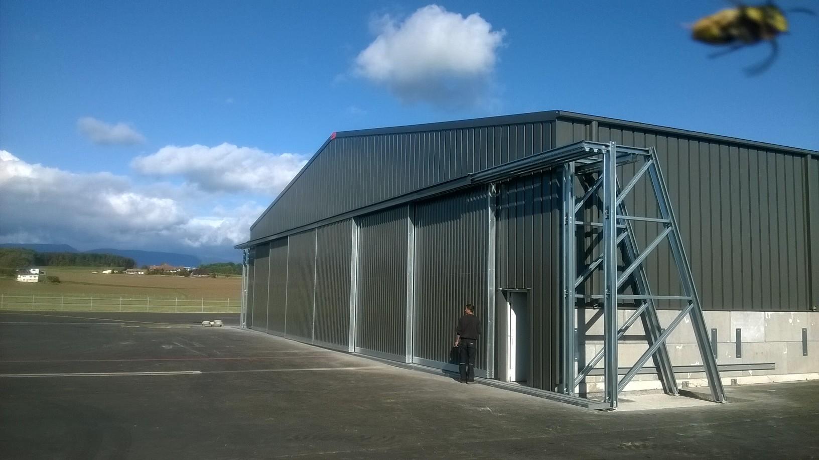 vliegtuighangar industriebouw staal XL-poort