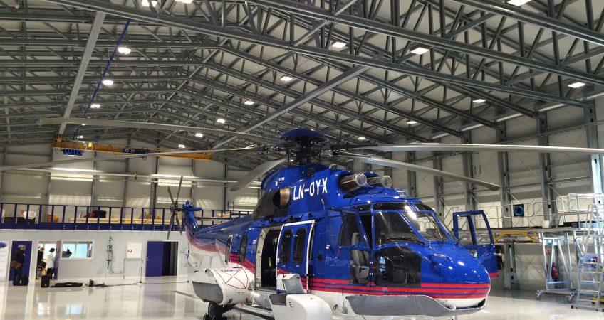 helikopterhangar XL-poort noorwegen